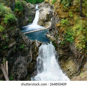 little qualicum falls provincial park, vancouver island, bc, canada