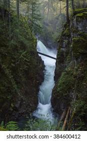 Little Qualicum Provincial Park, Parksville, Qualicum, British Columbia, Vancouver Island, Canada, Waterfall