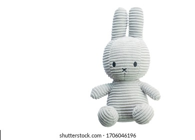 Little rabbit toys isolate on white background.