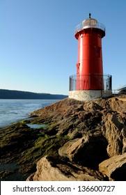 Little Red Lighthouse on the Hudson River, New York City