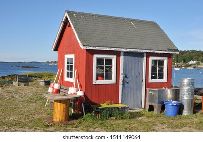 Little red shack at Bailey's Island, Maine
