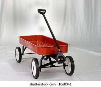 A little red wagon