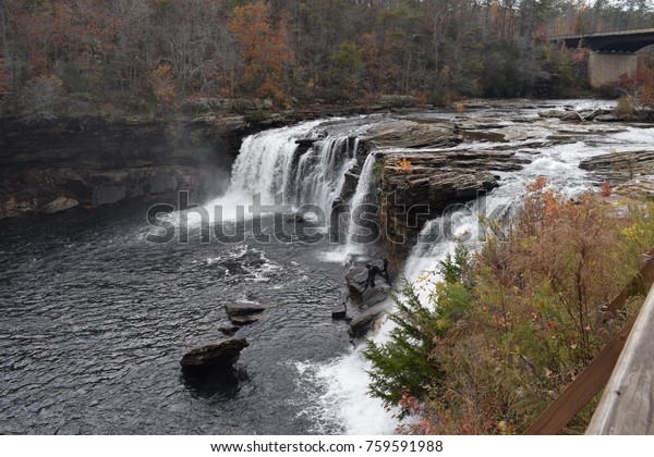 Little River Falls in Fort Payne Alabama
