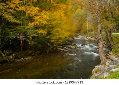 Little River Road in Great Smoky Mountains National Park Tennessee in Autumn