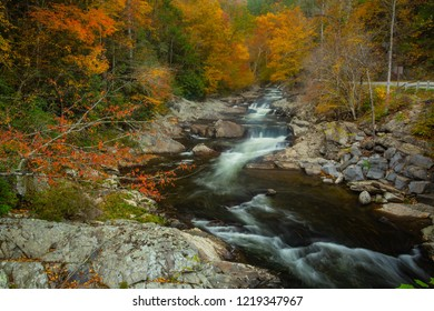 Little River in Smoky Mountains National Park in Autumn colors