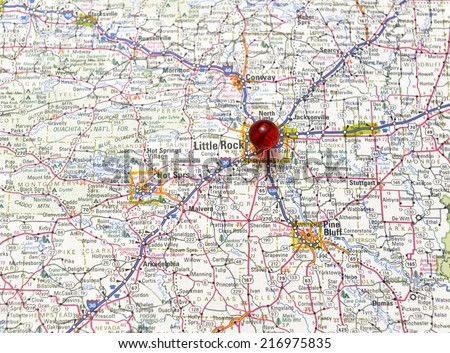 Little Rock Arkansas Area Map Stock Photo (Edit Now) 216975835 ...