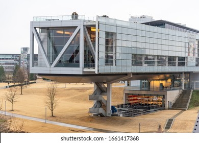 Little Rock, Arkansas: January 10, 2019:  The William J. Clinton Presidential Center and Park, which is the presidential library of President Clinton.  Bill Clinton is the 42nd President of the U.S.
