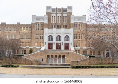 Little Rock, Arkansas: January 10, 2020:  Little Rock Central High School, which is a National Historic Site.  Little Rock Central High School was created in 1927 at $1.5 million.