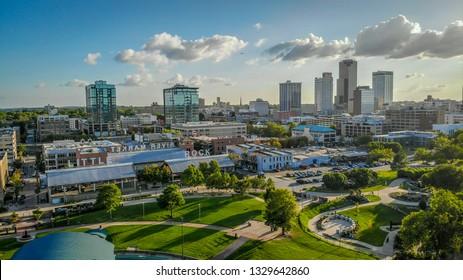 Little Rock, Arkansas - September 1, 2018: Skyline afternoon in downtown Little Rock  I