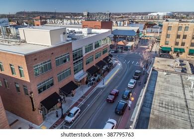 Little Rock, AR/USA - circa February 2016: Downtown of Little Rock, Arkansas
