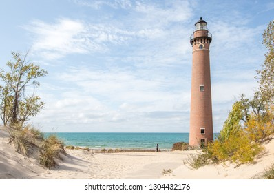 Little Sable point lighthouse along Lake Michigan