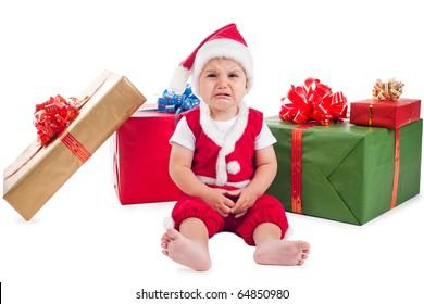 little sad santa
