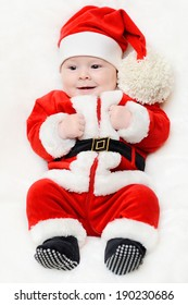 little santa baby on a white background