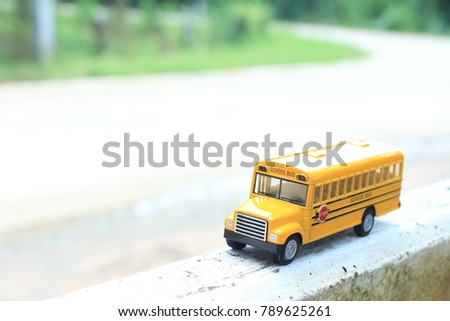 Little School Bus Model Public Community Stock Photo (Edit Now