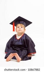 little school leaver girl