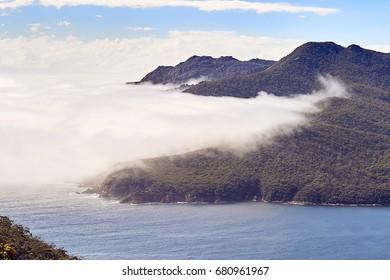 A little sea of clouds near Wineglass bay