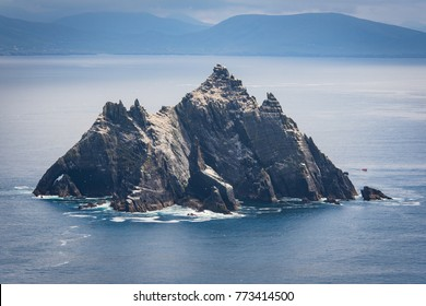 Little Skellig in front of the coast of ireland