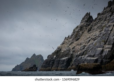 Little Skellig is the smaller of the two Skellig Islands, the other being Skellig Michael, 1 km to the south-west. The island has a large bird population, including a colony of northern gannets.