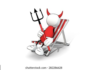 little sketchy man - devil in a deck chair