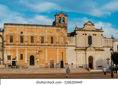 Little square in Oria, Salento, Italy
