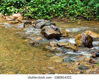 little stream and rocks