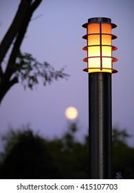 Little Street lamp in town Yevpatoria in Crimea.
