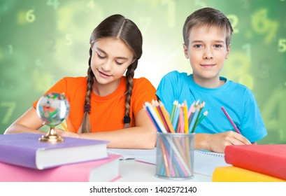 little student learning in class room