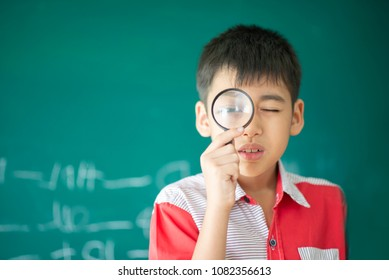 Little students take a Magnifying glass