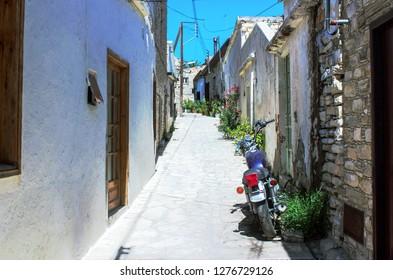 Little summer street in Cypres
