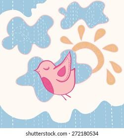 Little sweet flying bird