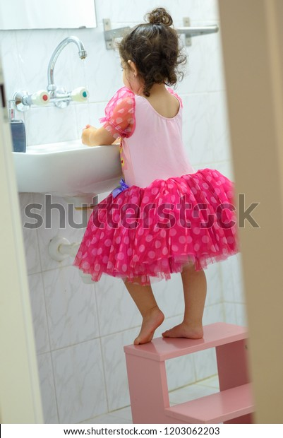 Cool Little Toddler Girl Dress Stand On Stock Photo Edit Now Uwap Interior Chair Design Uwaporg