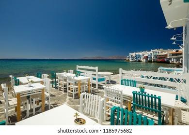 Little Venice in Mykonos island,Greece