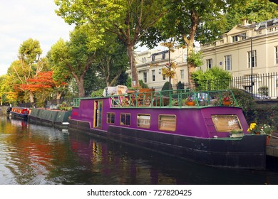 Little Venice water channels in London, UK, Europe