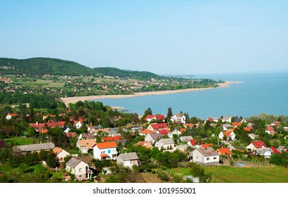 Little village at Lake Balaton, Hungary ( Badacsonytomaj )