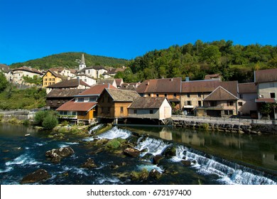 Little village of Lods in the Franche Comte