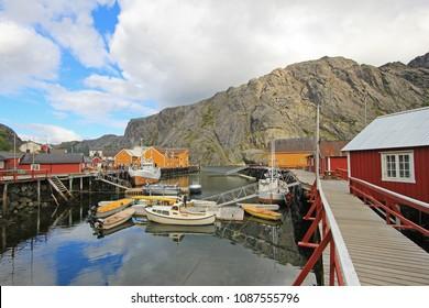 Little village Nusfjord, Lofoten Islands, Norway Scandinavia Europe