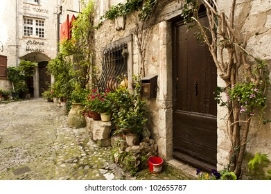 A little village in Saint-Paul, France - located in Southern France.