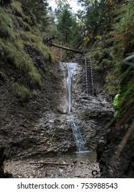 Little waterfall autumn