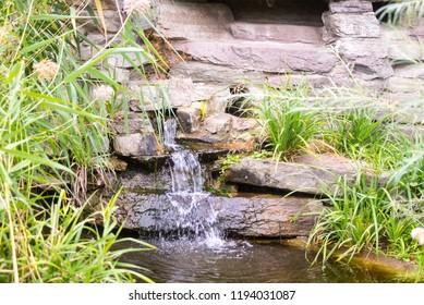 little waterfall in garden