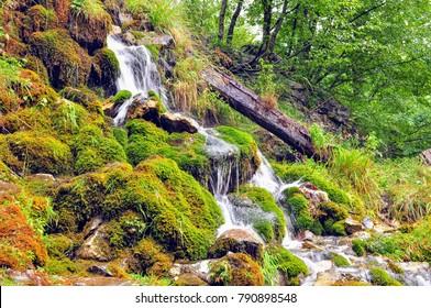 little waterfall in Theth, Albania