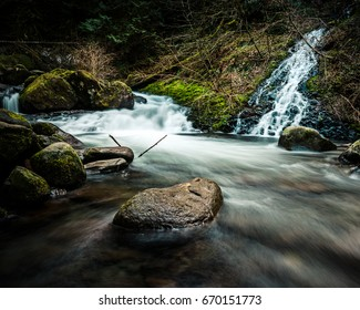 Little Waterfalls joining in a small river
