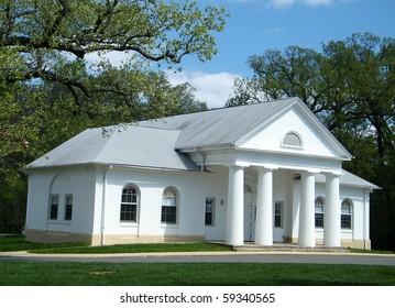 Little white house in Arlington National Cemetery, Arlington Virginia USA