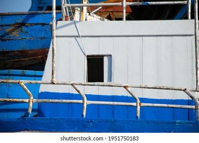 The little window of a broken ship. Lampedusa, summer 2009.