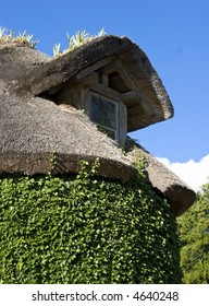 Little window on a thatched roof