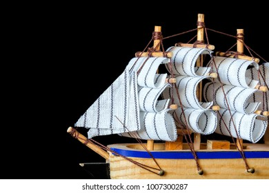 Little wooden ship