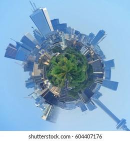 A little world of city