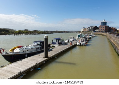 Littlehampton harbour West Sussex River Arun with boats