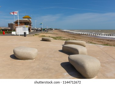 Littlehampton seafront England UK south coast town in West Sussex