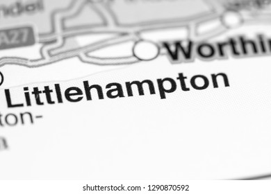 Littlehampton. United Kingdom on a map