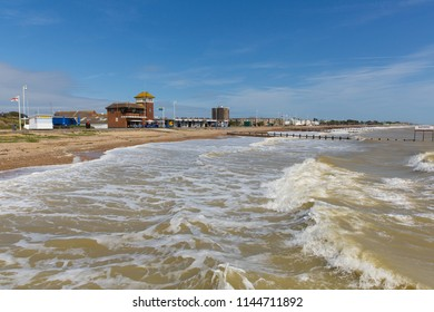 Littlehampton West Sussex beach and waves West Sussex England UK